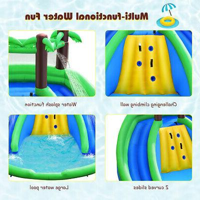 Inflatable Bounce Dual Climbing Wall Without