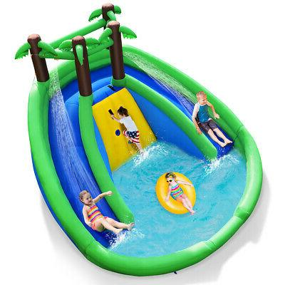 inflatable water park pool bounce house dual