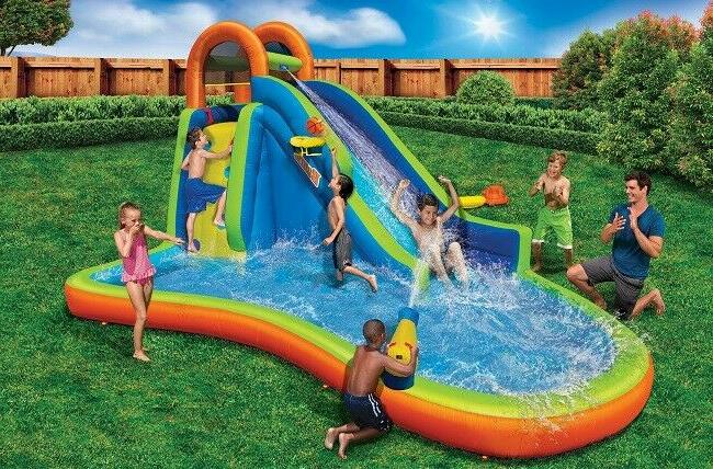 inflatable water slide pool bounce house bouncer