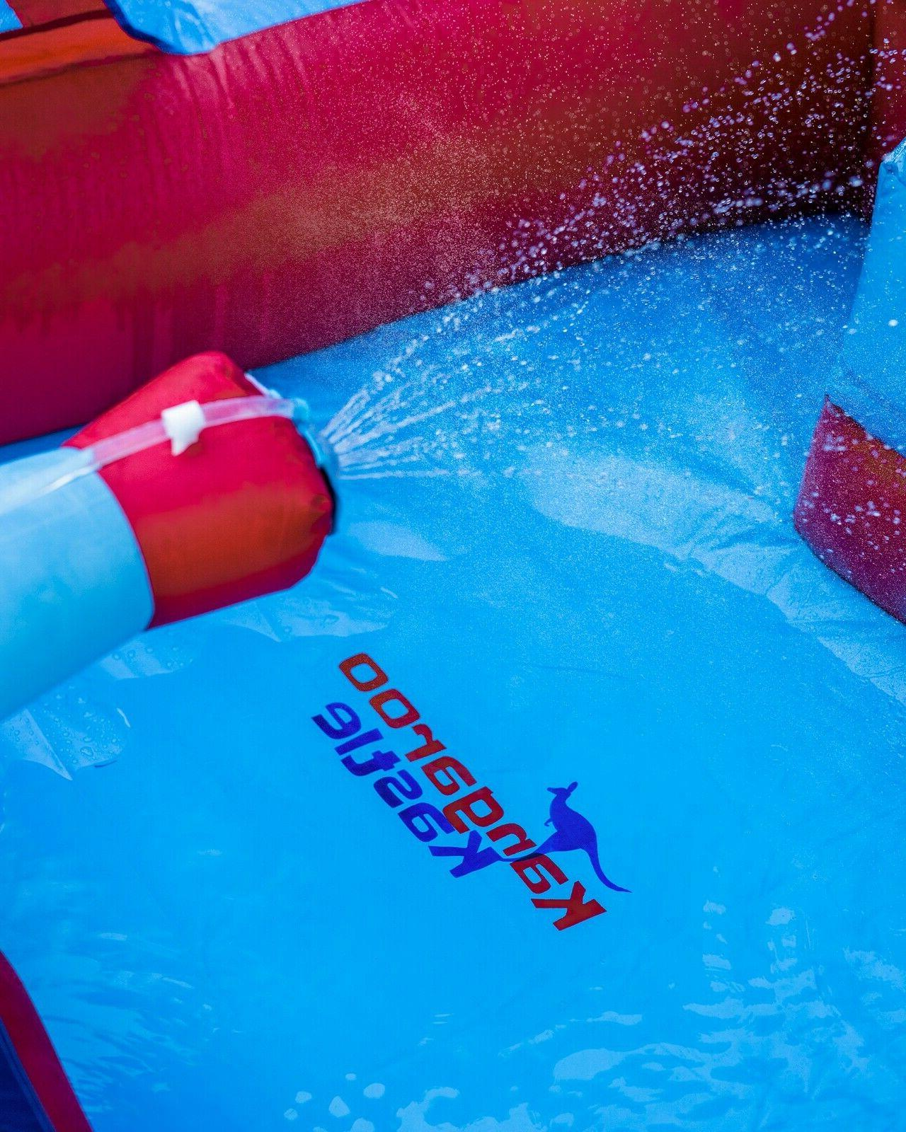 Inflatable Water Slide Blower for Adults/Kids with Water & Pool