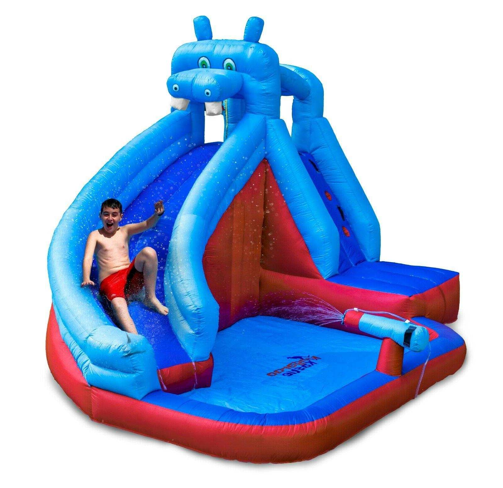 inflatable water slide with blower for adults