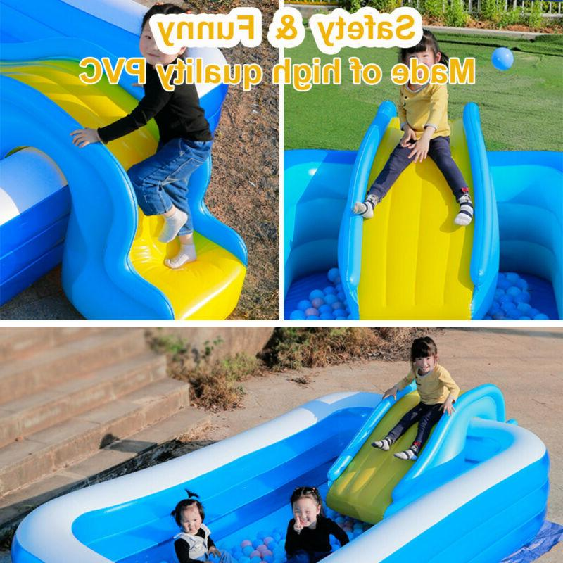 Inflatable Slides Kids Backyard Outdoor Water Party For Swimming Pool