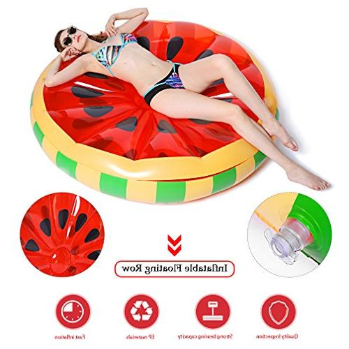jaaytct Watermelon Pool Party Giant Floats Beach Pool Ride-ons