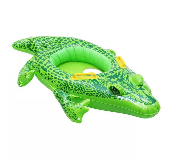 kids inflatable baby crocodile swimming ring float