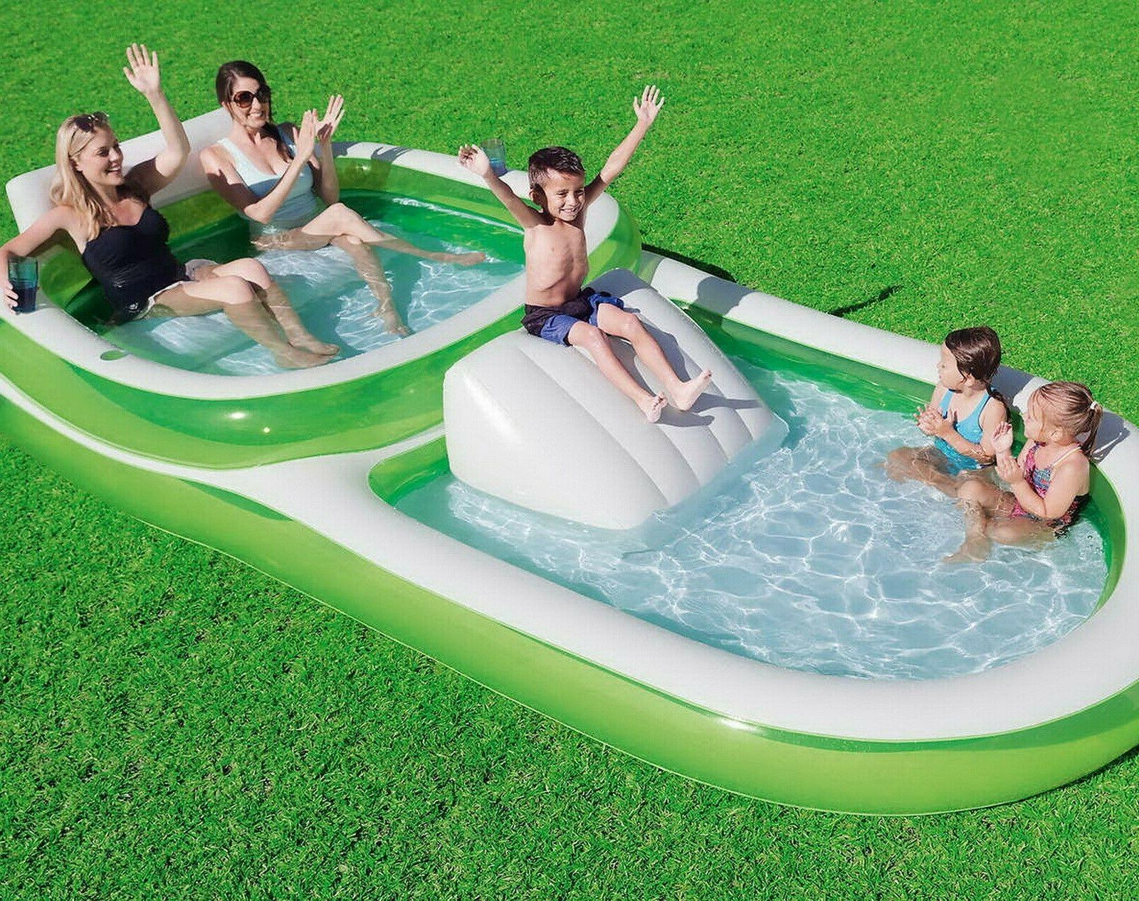 kids inflatable splash pool family size swimming