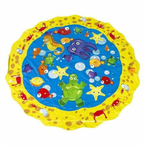 Kids Inflatable Splash Mat Lawn Spray Water Pad Outdoor Toys