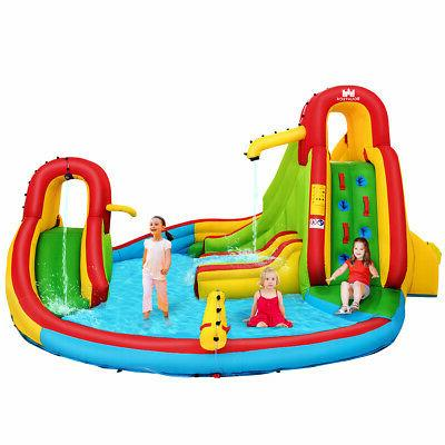 Kids Gift Inflatable Water Slide Pool Park Bounce House Clim