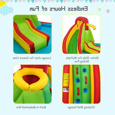 Kids Inflatable Wall Water Pool Bounce House Blower