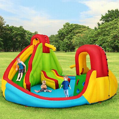 Kids Inflatable Wall Water Slide Park Bounce House without Blower