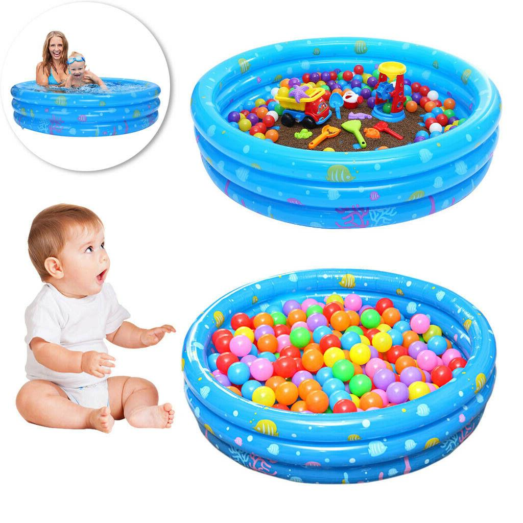 large family inflatable swimming pool center water