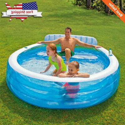 Large Inflatable Swim Center Lounge Family Pool Kids Water P