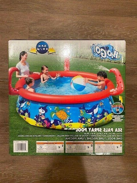 large inflatable swimming pool for kids sea
