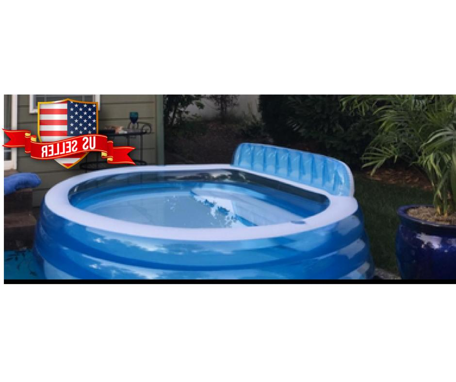 Large Inflatable Pool Lounge Sturdy Kid Backyard