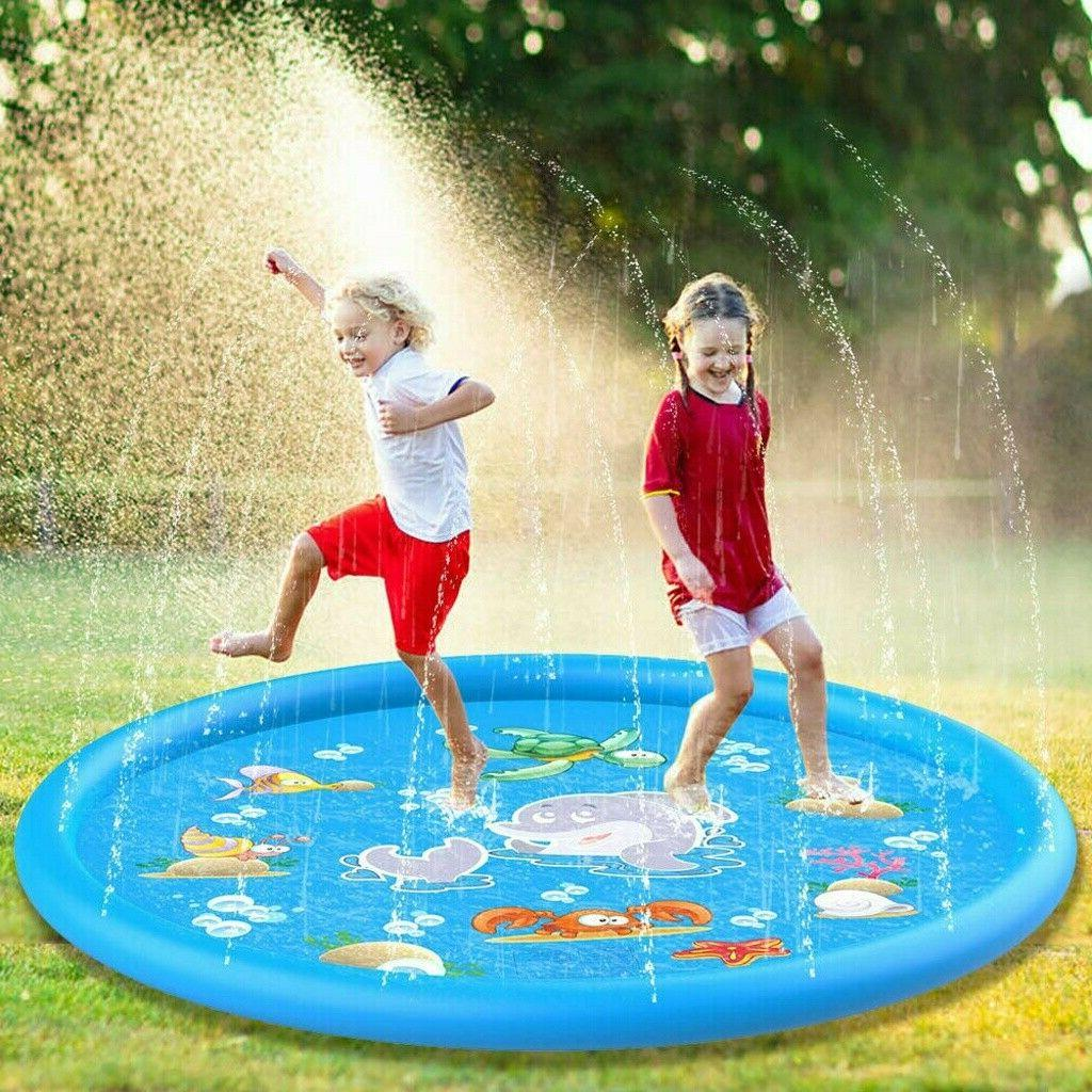 Kids Inflatable Water Spray Pad Sprinkler Mat Round Water Sp
