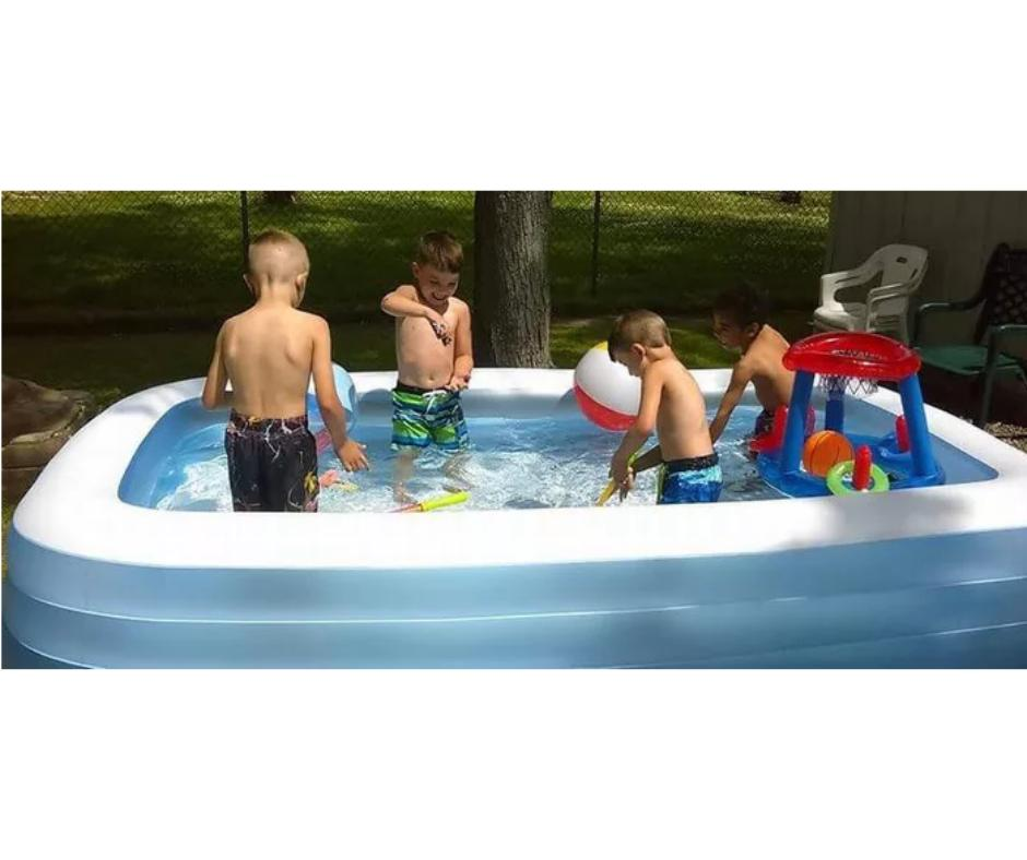 Inflatable Swimming Pool Floaties for Kids Kiddie Adult Fami