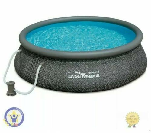NEW Summer 12ft x Set Inflatable Round with Pump