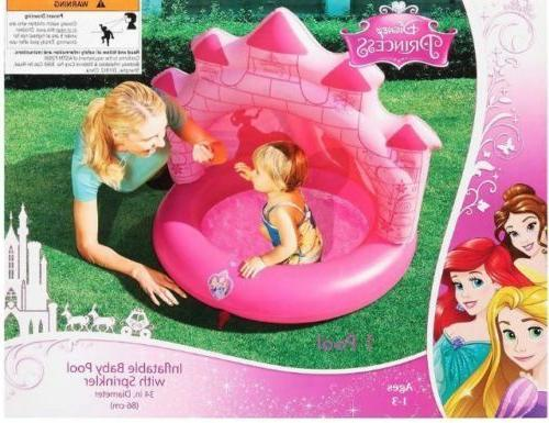 new 34 inch princess inflatable baby pool