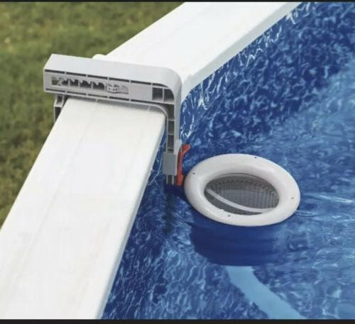 new deluxe wall mount pool skimmer