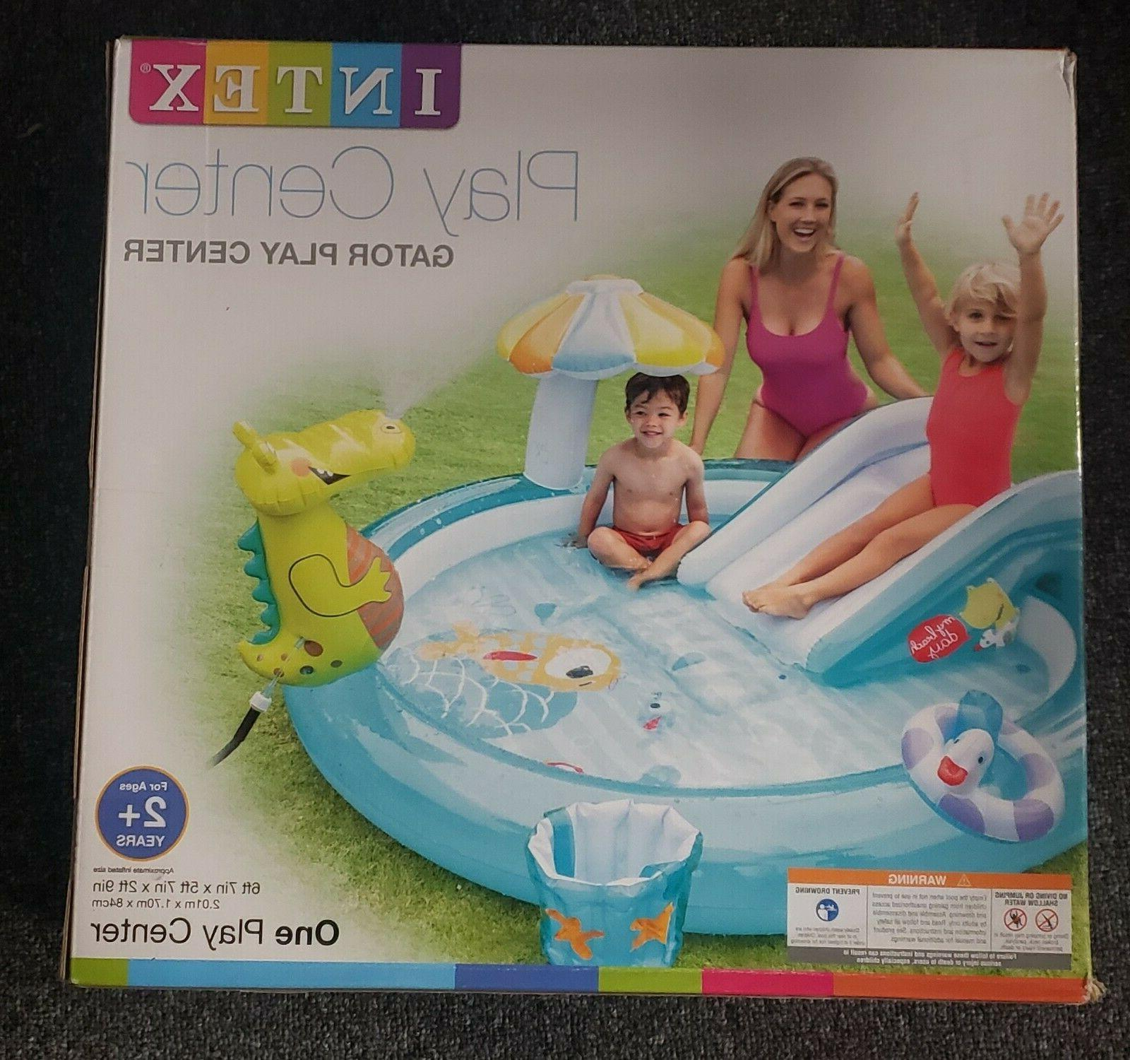 new gator play center kids inflatable swimming