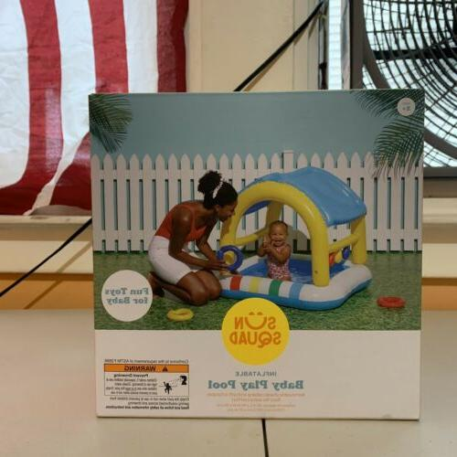 new inflatable baby play pool shaded baby