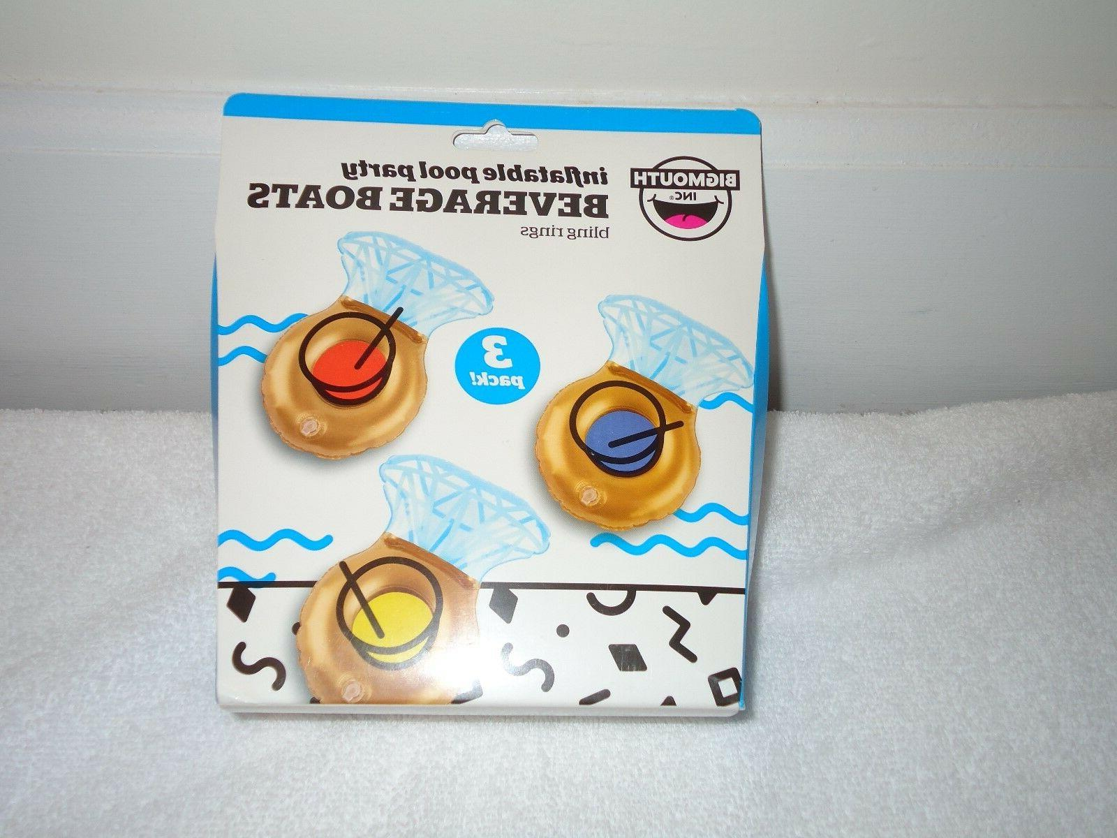 new inflatable pool party beverage boats bling