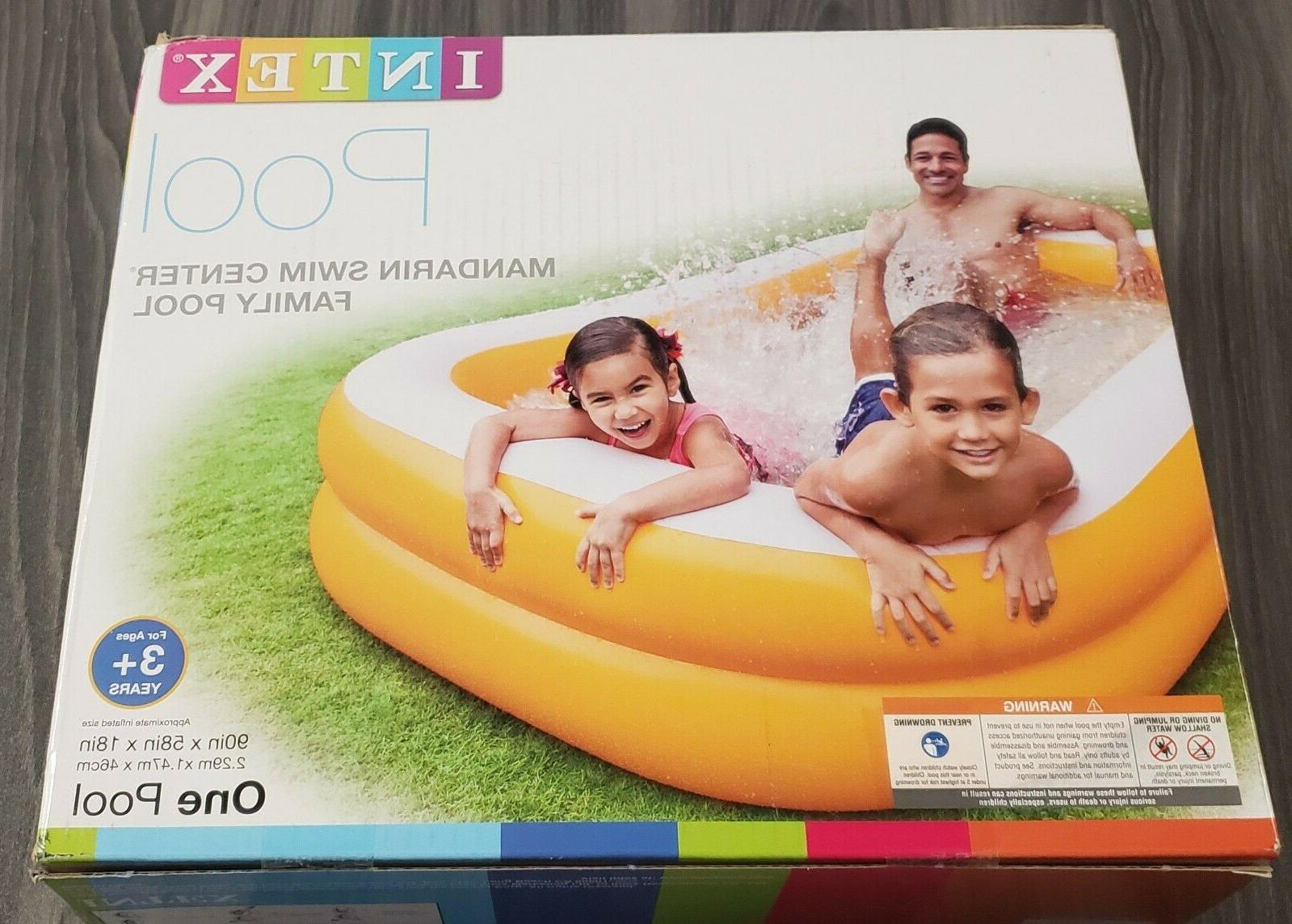 New Intex Center Above Kids Swimming Pool