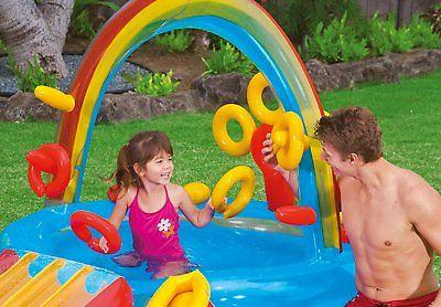 "- NEW Intex Rainbow Inflatable Center, X X 53"", for 2+"