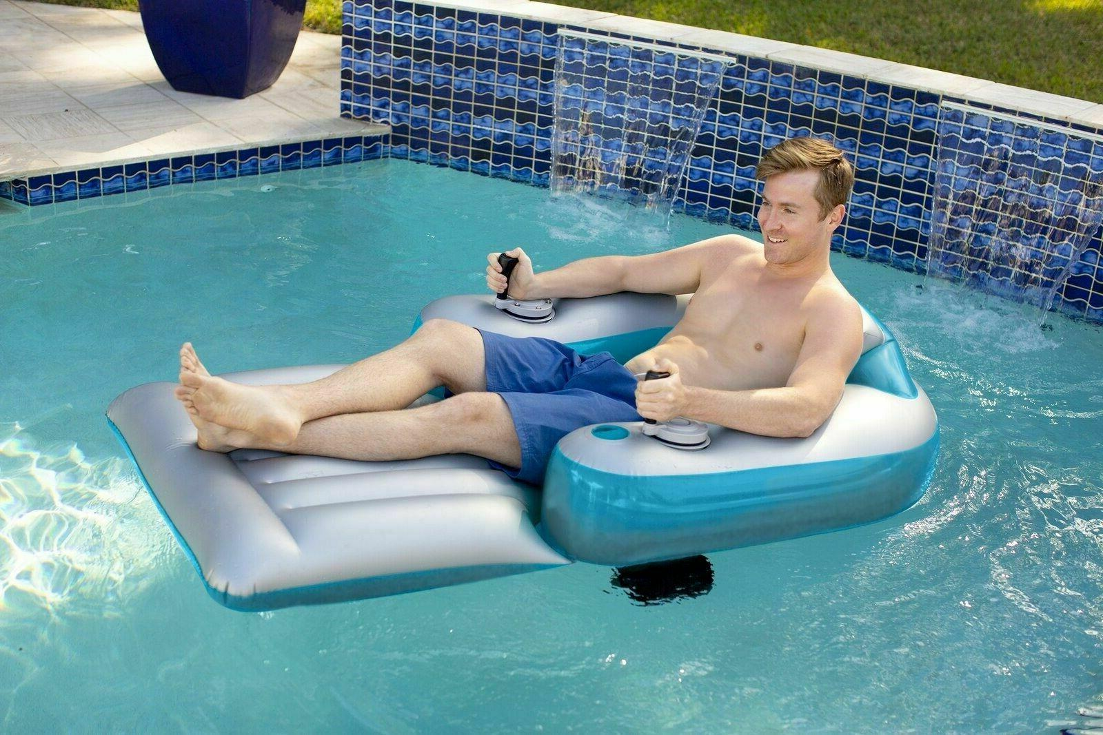 Splash Runner Motorized Inflatable Lounger Pool/Lake Chair F