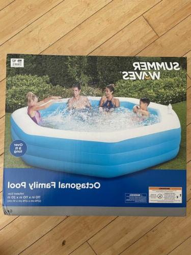 over 9 ft swimming pool octagonal inflatable