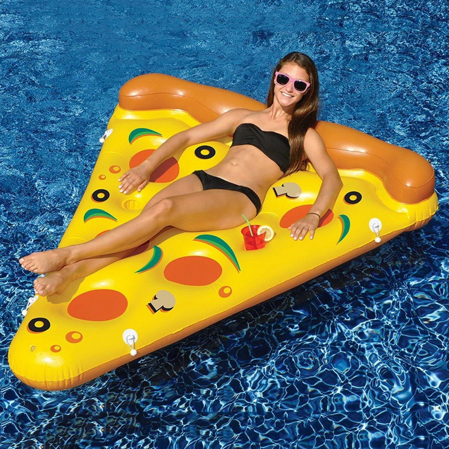 pizza inflatable swimming pool summer water float