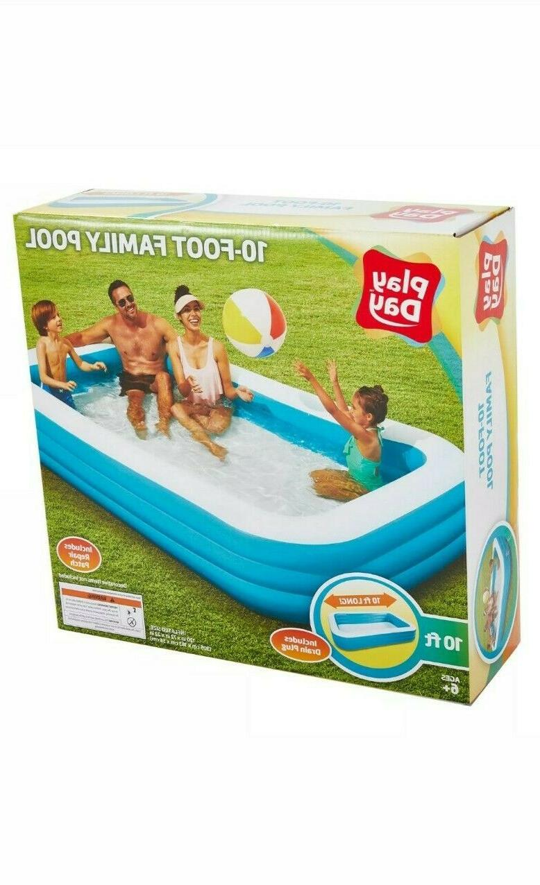 "Play Rectangular Inflatable Family Pool, x 72"" x"