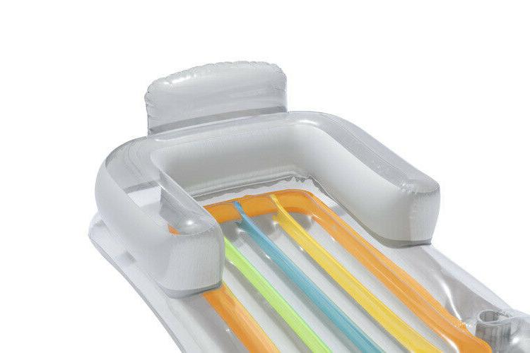 Pool Float Lounge Swimming With Cup