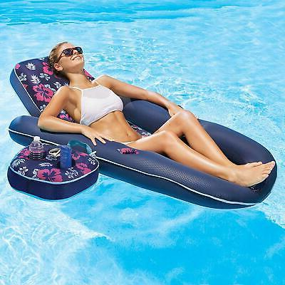 pool inflatable lounge recliner ultimate float raft