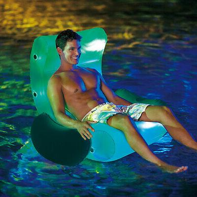 Summer Pool Lake Ocean Inflatable Lounge with LED