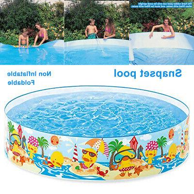 Portable Foldable Non Inflatable Round Snapset Pool Family S
