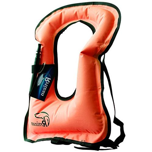 portable inflatable canvas life jacket