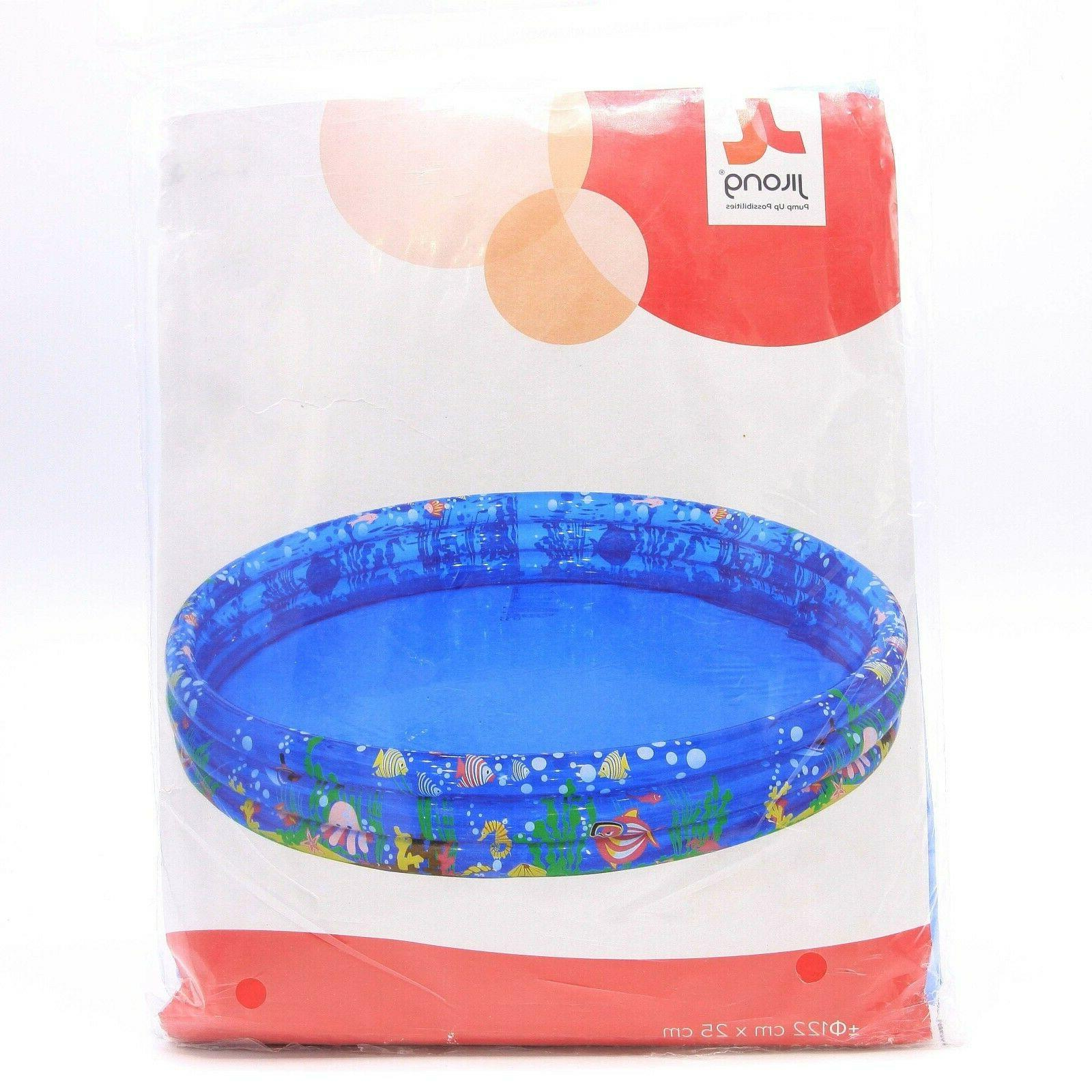 Portable Swimming Pool 48 Round Kids Above Ground Toy
