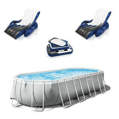 prism pool set with inflatable loungers 2
