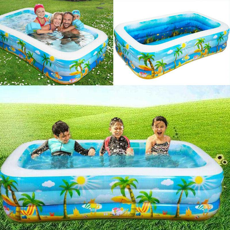 pvc inflatable swimming pool giant family swim