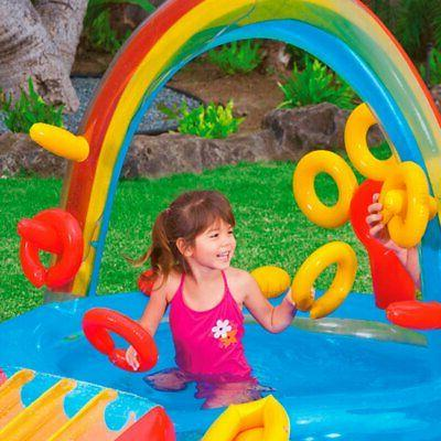 "Intex Rainbow Inflatable Play Center, 76"" X for Ages 2+"