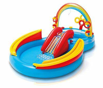 "Intex Rainbow Ring Inflatable Play Center, 117"" X 76"" X 53"","