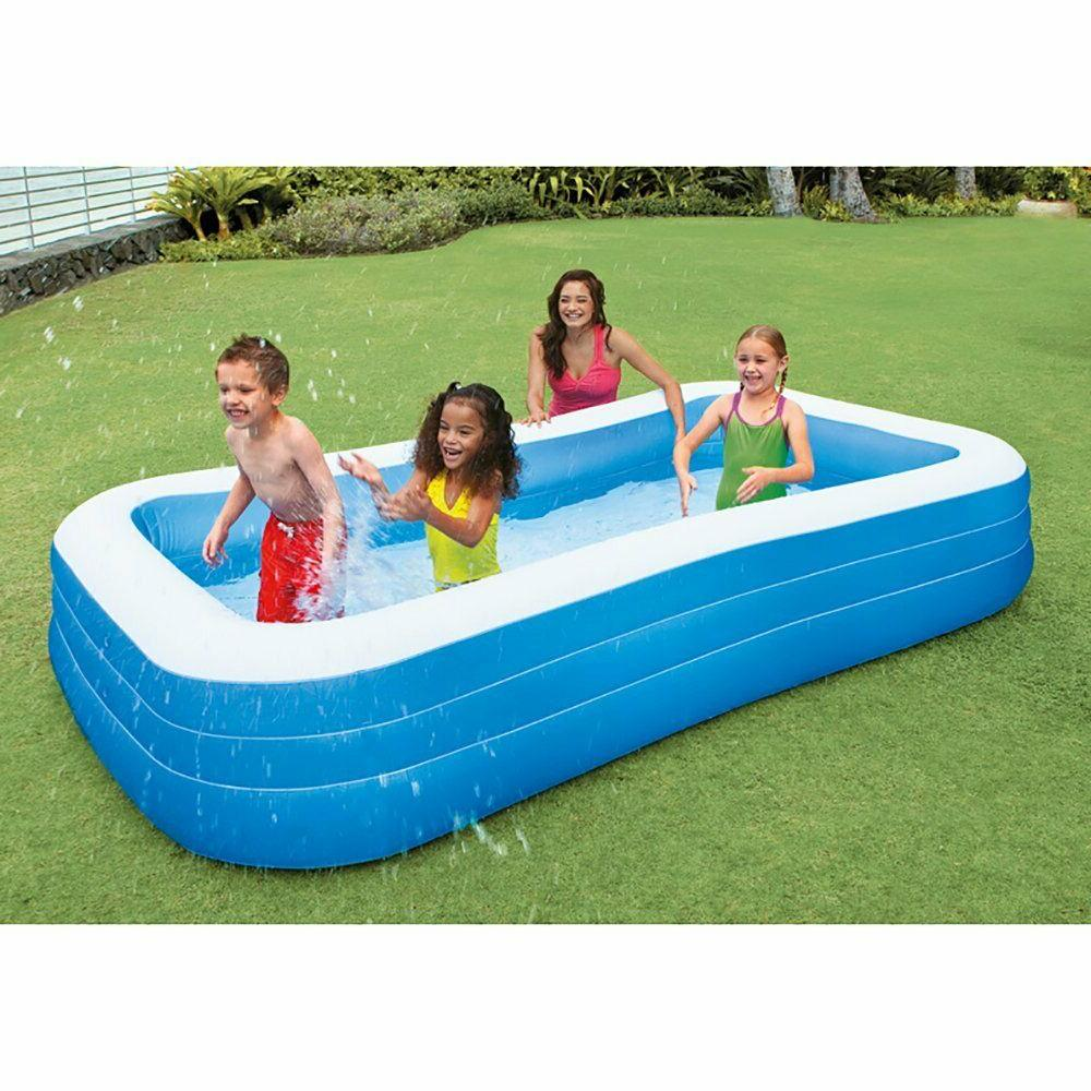 INTEX Rectangle Inflatable Swim Pool 120in 72in X 22in