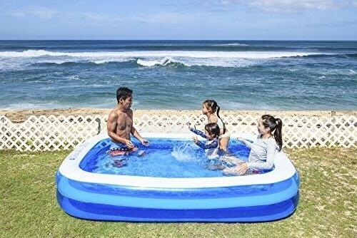 "Jilong Rectangular Family Inflatable Pool for Blue, 69"" x"