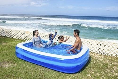 "Jilong Rectangular Pool for Ages Blue, x 69"" x 20"""