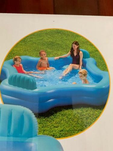 Intex Relax 2-Seat Swim Center Family Inflatable Pool ☀️