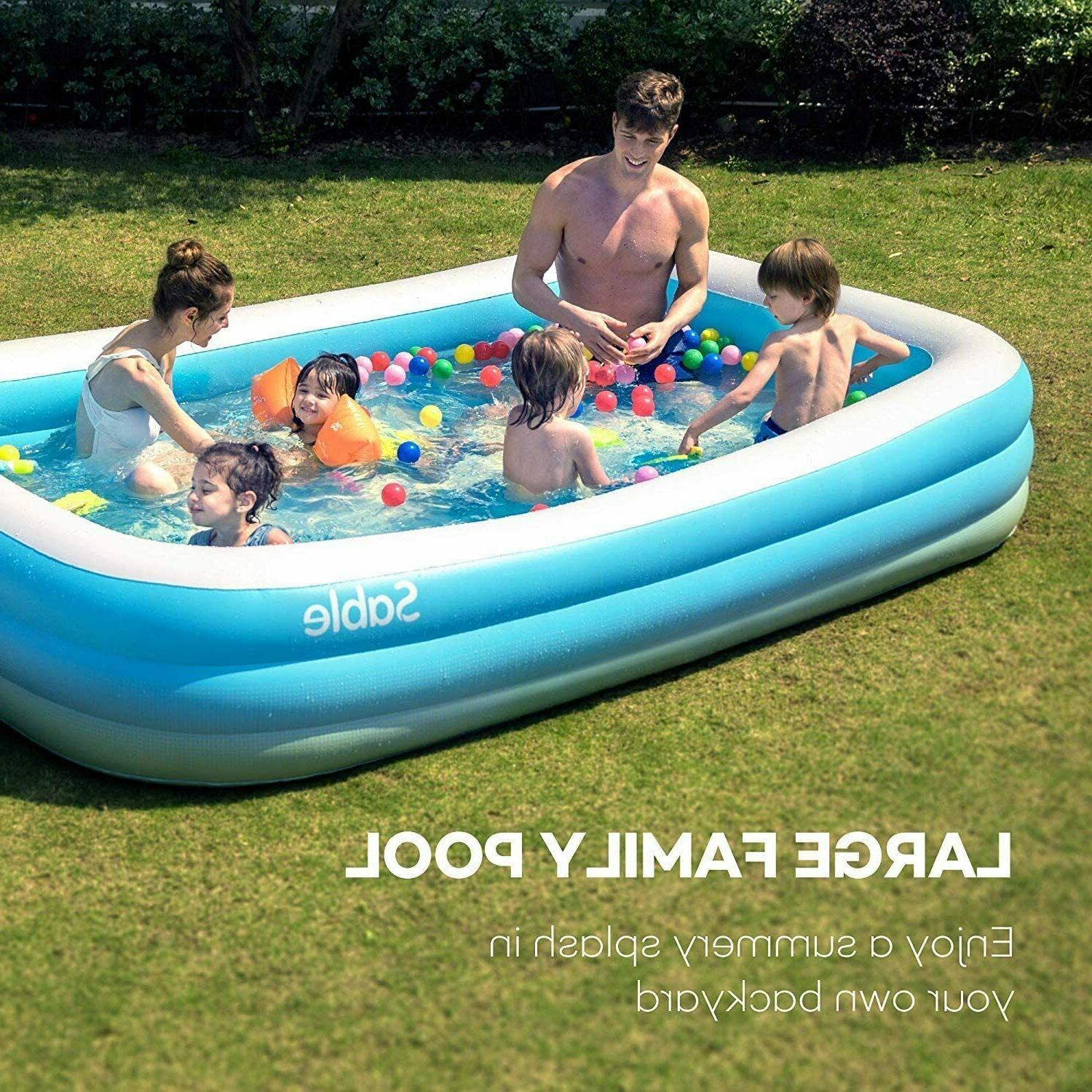 blow up family full sized pool