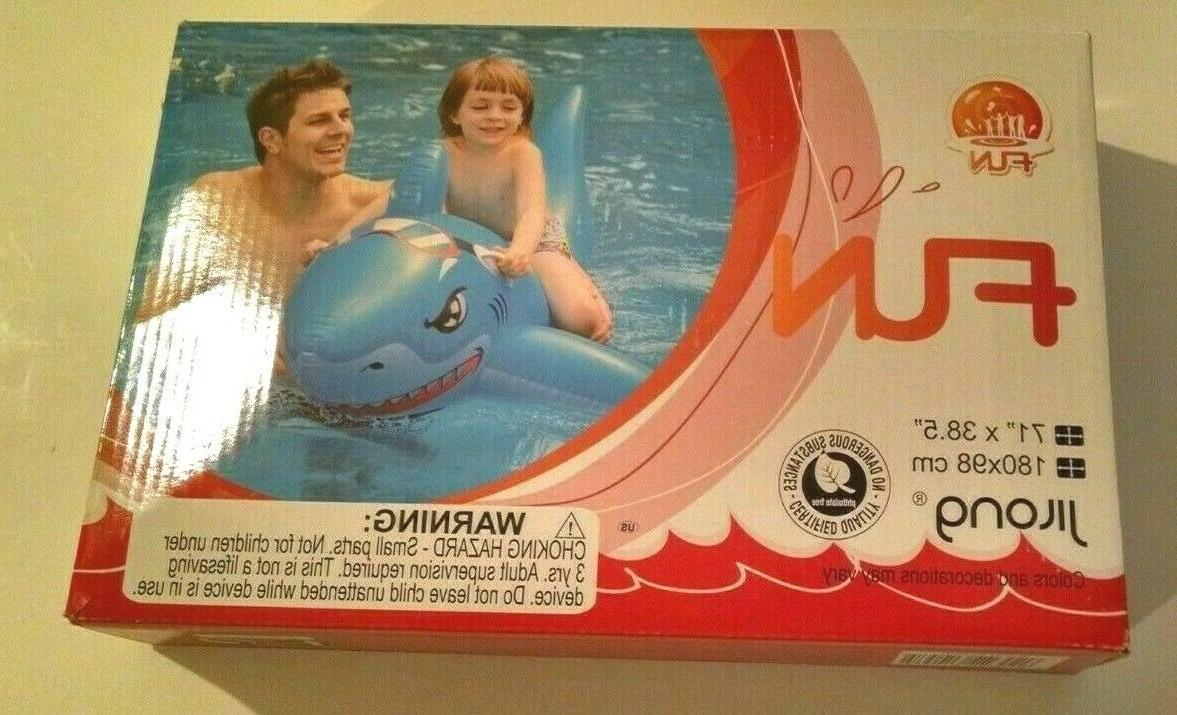 shark rider sealed inflatable pool toy 71