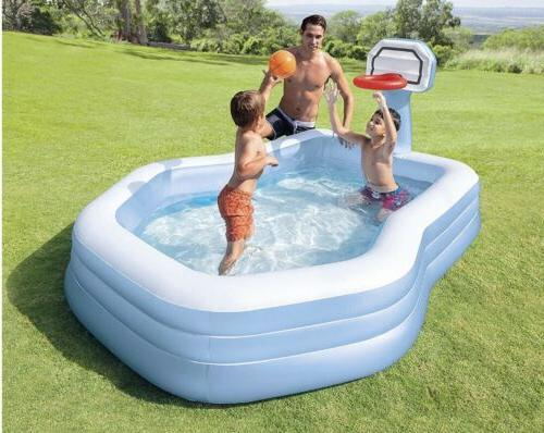 Intex Hoops Center Family Pool, for Ages 3+ Family Summer Fun