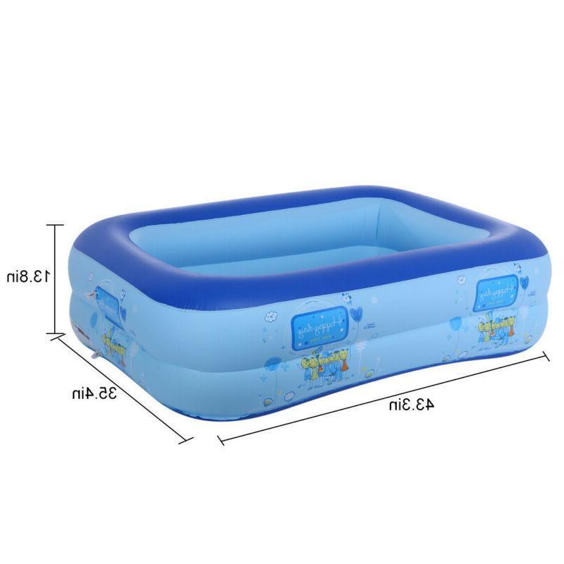 Inflatable Swimming Pool Lounge Water Fun Backyard