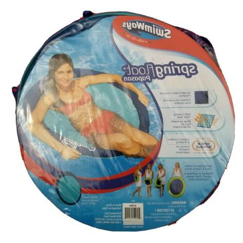 spring float inflatable adult pool seat turquoise